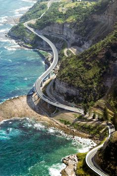 photography, road, highway, ocean
