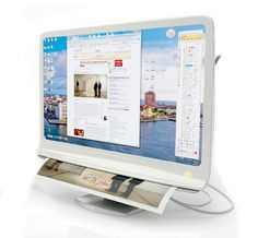 Document Extractor, a monitor that prints and scans effortlessly just by swipes or flicks of your fingers.