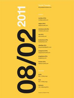 Tumblr Tuesday Poster 05 #inspiration #creative #tumblr #date #design #graphic #grid #system #blog #poster #typography