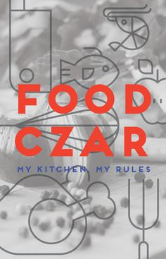 Food Czar Print for Chefs #inspiration #white #prints #graphics #black #quotes #posters #type #blackandwhite #typography