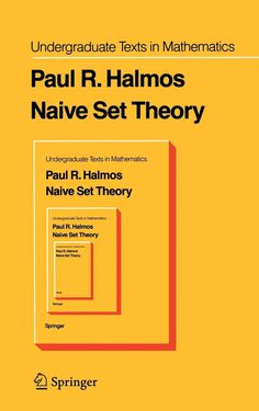 Naive Set Theory Cover #book cover