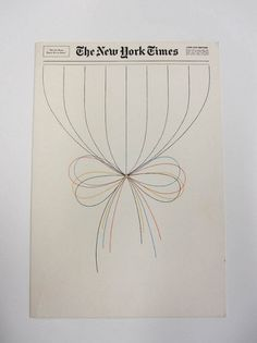 Holiday card by Lou Silverstein for the New York Times | Flickr - Photo Sharing! #christmas #new york times #lou silverstein