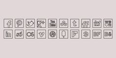 Black Line Colour Icons Set