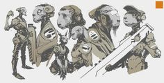 Character Illustrations by Darren Bartley #arts #illustrations #inspirations