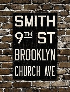 BROOKLYN New York City Distressed Subway Sign by FlyingJunction
