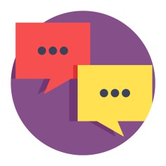 See more icon inspiration related to talk, chat, conversation, negotiating, communications, speech bubble, bubble speech, message and communication on Flaticon.