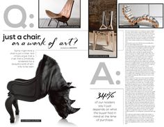 Portfolio / Layout / Q & A Layout #interior #question #chairs #design #rhino #answer #layout #magazine #typography