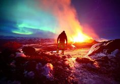 Northern Lights Paint Sky Over Arctic Volcano | Raw File | Wired.com #northern #hdr #volcano #ice #light