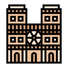 See more icon inspiration related to monument, architecture and city, notre dame, tourism, architecture, landmark, cathedral, france, paris, buildings and building on Flaticon.