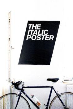 Sara Lindholm - Via:Â designcrushblog.com #italic #poster
