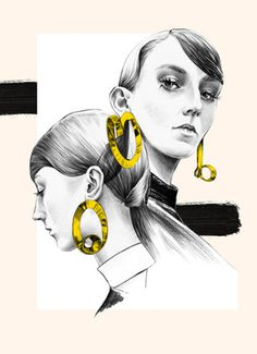 Illustration by Ewelina Dymek #illustration #fashionillustration #penandink