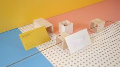 sixandfive-0bis #pink #yellow #identity #blue #plywood