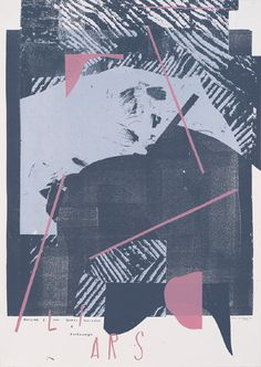 #Damien #Tran #Gig #Poster #Experimental #Screen #Print