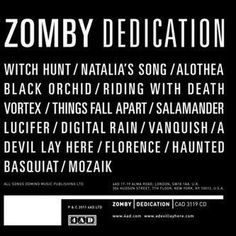 Photos from ZOMBY ® (ZOMBY ®) on Myspace #design #graphic #cover #music #zomby #typography