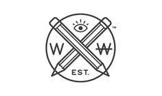 Your Logo Is Not Hardcore #writer #freelancer #hardcore #logo #monostroke #pencil