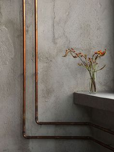 concrete & copper #concrete #copper #interior