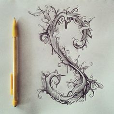 A little type doodles in a florid Victorian ornament style