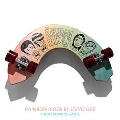 Stevie Gee skate deck #hair #illustration #rainbow