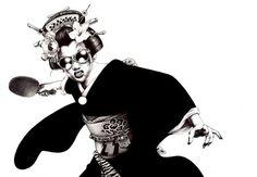 温泉卓球芸者 #illustration #ballpoint #shohei