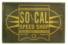 Tin Sign - SO-CAL Oil Can Piston – So-Cal Speed Shop & Vintage Car Parts – MonsterMarketplace.com