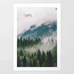 Vancouver Fog Art Print