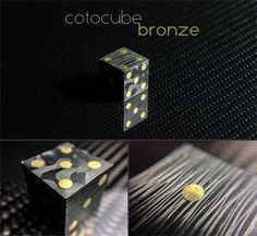 Cotocube Bronze! #carbon #carbonfiber #dice #bronze #luxury #cotocube #fancy #unique