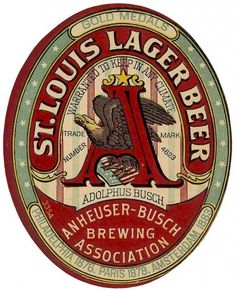 All sizes | Anheuser-Busch Brewing Assn St. Louis Lager Beer | Flickr - Photo Sharing! #beer #logo #brand #type #typography