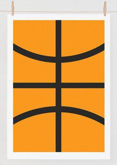 Camilla Bengtsen #print #basketball #minimal #poster