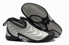 Nike Air Flightposite Silver/Black Men Basketball Shoes #shoes