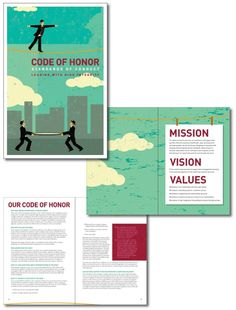 O&M Code of Honor Brochure #print #design #collateral #brochure