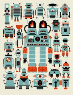 Design Work Life » cataloging inspiration daily #illustration #design #robots