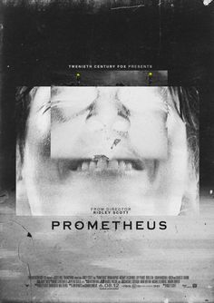 Prometheus #teeth #movie #white #prometheus #black #poster #and