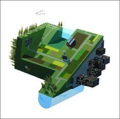 Lorem ipsum dolor #vector #globe #city #illustrator #green