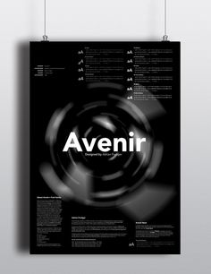 AVENIR TYPE POSTER - sjoerdbos #avenir #type #poster