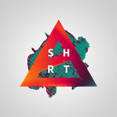 Short Stories on Behance #abstract #red #graphic #triangle #type #green