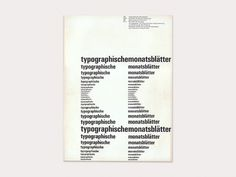 Display | Typographische Monatsblatter 1961 Number 4 May Emil Ruder | Collection #emil #ruder #typography