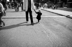 Half girl #old #young #girl #photo #street #man