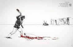 Surfrider Foundation – La polution marine tue | Voyons Voir - J'aime le frivole #graphic design