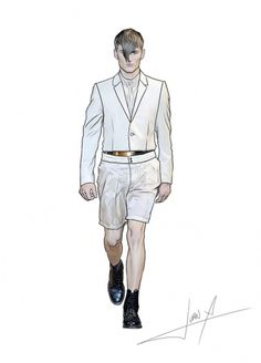 8c4c4a11c3a031a9fb5f12735ed49ea7.jpg (JPEG Image, 600×833 pixels) #fashion #illustration #men #mugler