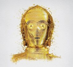Star Wars Identities Mosaics #star #mosaic #wars #c3po