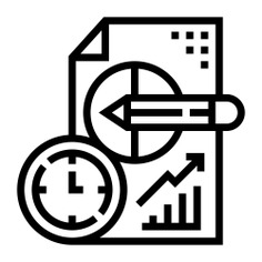 See more icon inspiration related to watch, clock, time and date, files and folders, line chart, stats, bar graph, pie chart, analysis, pencil, statistics, graph, document and time on Flaticon.