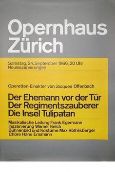 Josef Müller-Brockmann DER EHEMANN VOR DER TUR [ 128CM X 90CM ] via www.blanka.co.uk