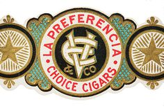 Cigar band logo #illustration