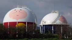 Visual-Friendly Gas Industry: Decorated Tanks in Japan #japan #tank