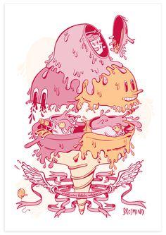Brosmind #cream #design #graphic #illustration #art #ice