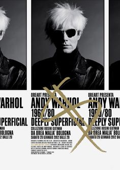 Andy Warhol $ Deeply Superficial on Behance #warhol #poster #typography