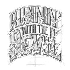 matthewtapia:Van Halen song from 1978. Sketch from 2011. #lettering #sketch