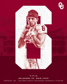2016 Oklahoma Football Schedule Poster