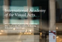 International Academy of the Visual Arts #space #typography