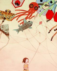 Enredado 16x20 Mate Impresión en Color por stasiab en Etsy #burrington #stasia #illustration #kids #cartoon